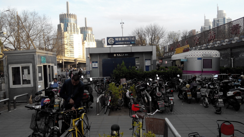 велопарковка в Пекине