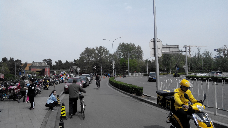 на велосипеде по Пекин