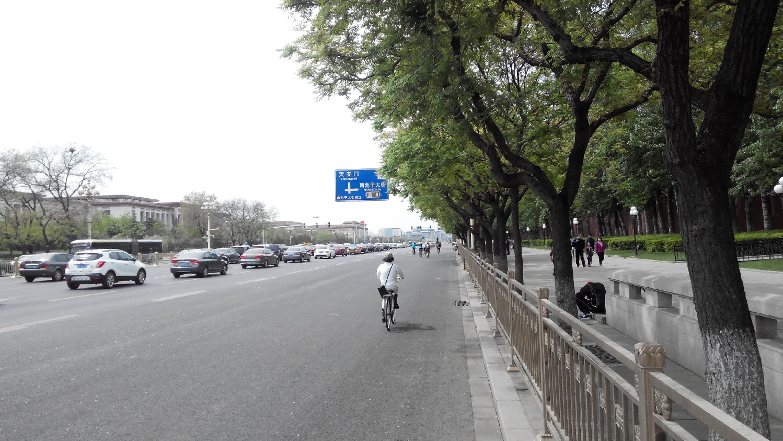 на велосипеде по Пекину