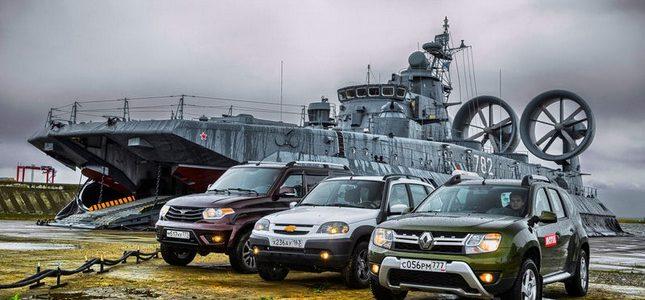 «Морской Бой»: интересный тест Рено Дастера, Шеви Нивы и УАЗа в Прибалтике.