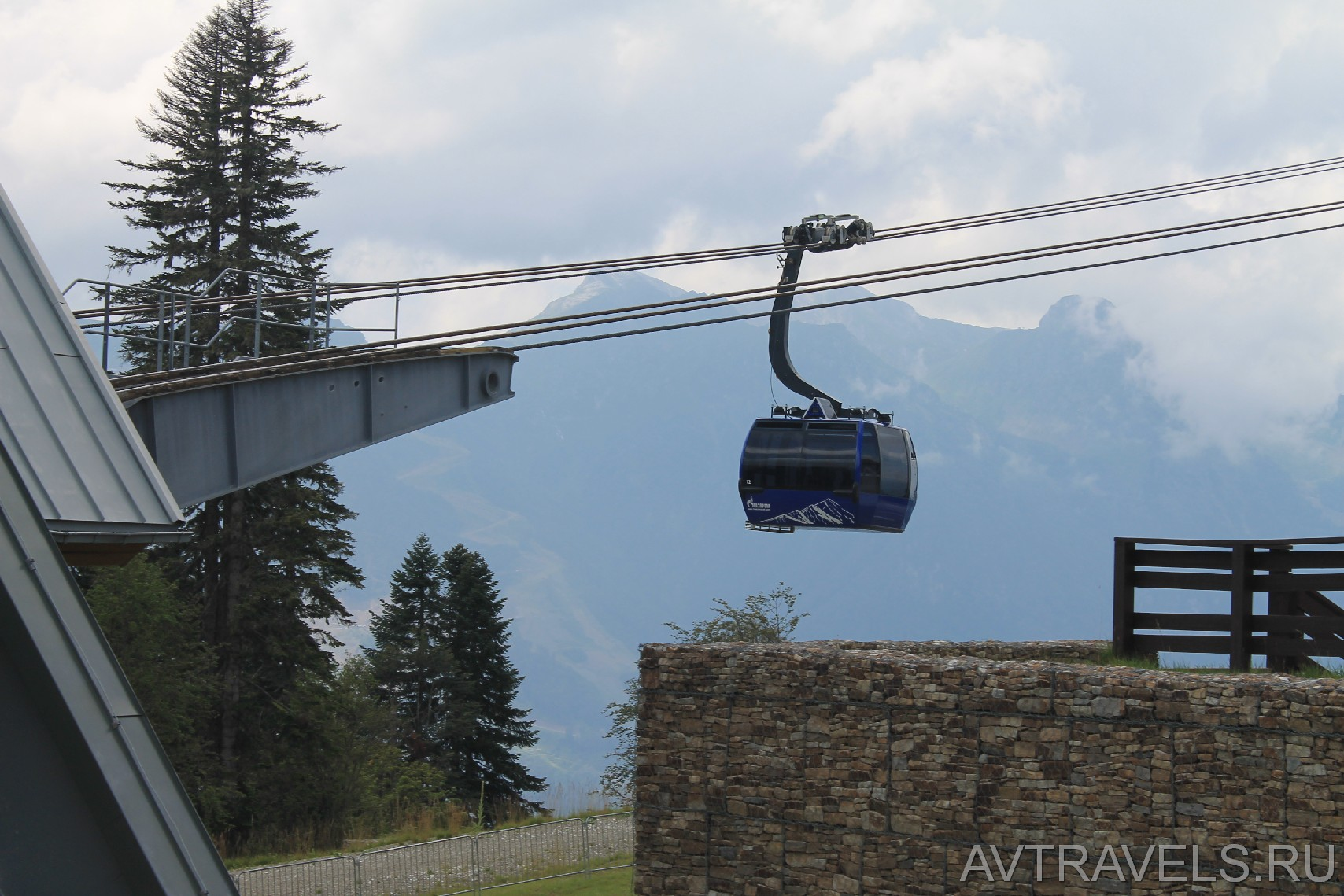 подъёмник горно-туристического центра Газпрома