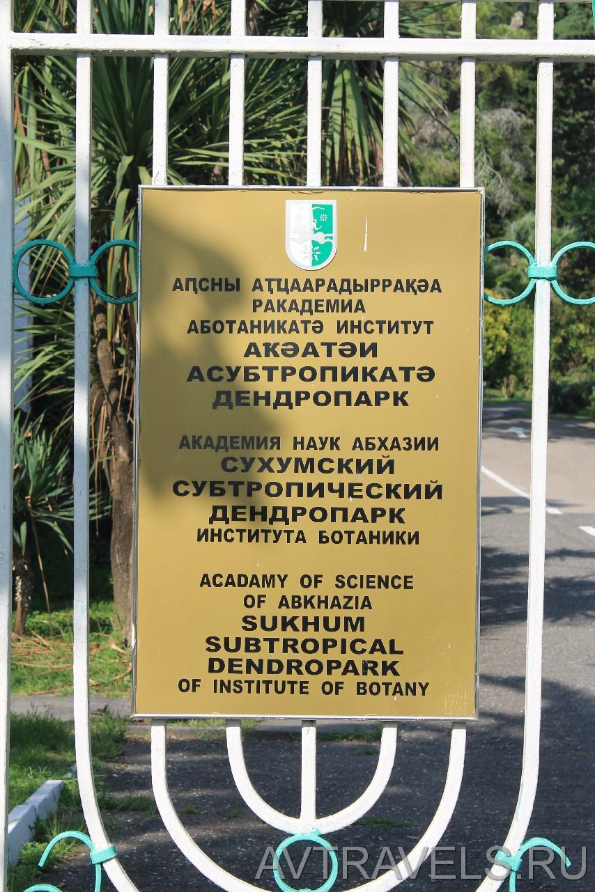 сухумский дендропарк