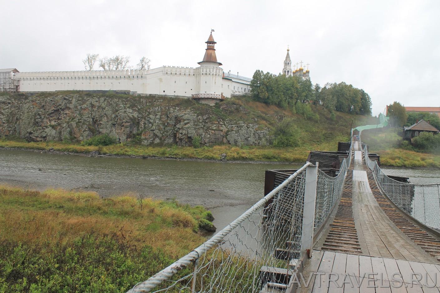 деревянный мост Верхотурье