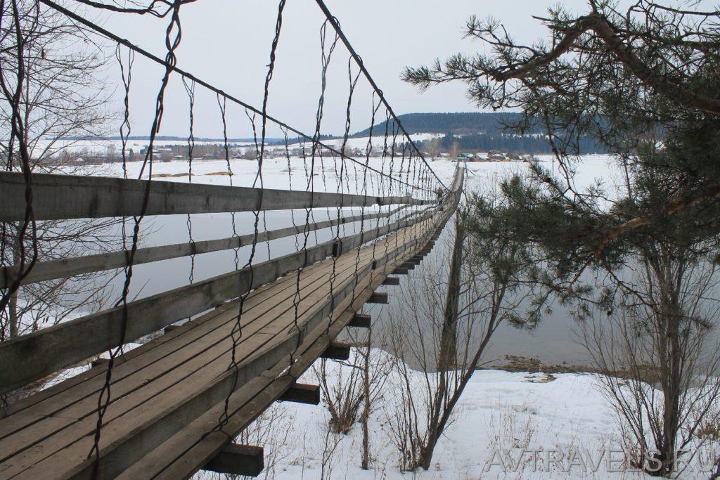 пешеходный мост водопад Плакун