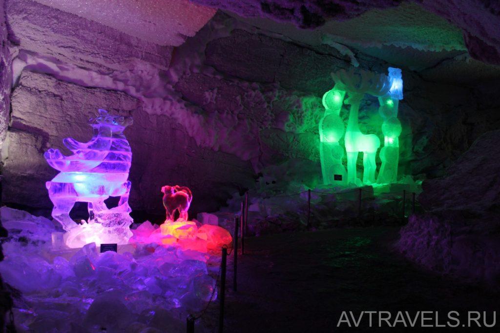 ледяные скульптуры кунгурская пещера
