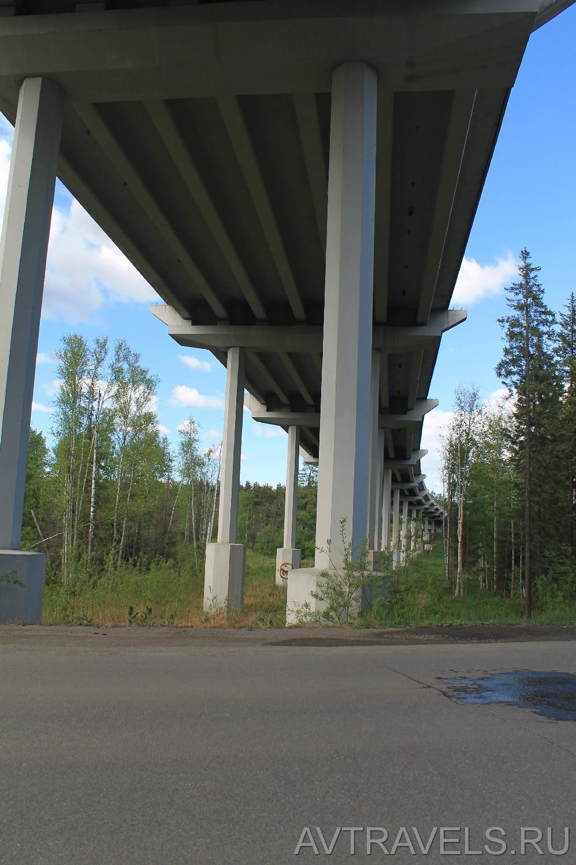 Мост на ЕКАД вид снизу