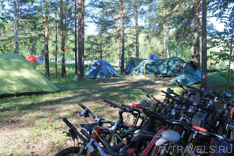 туристический лагерь велоклуба