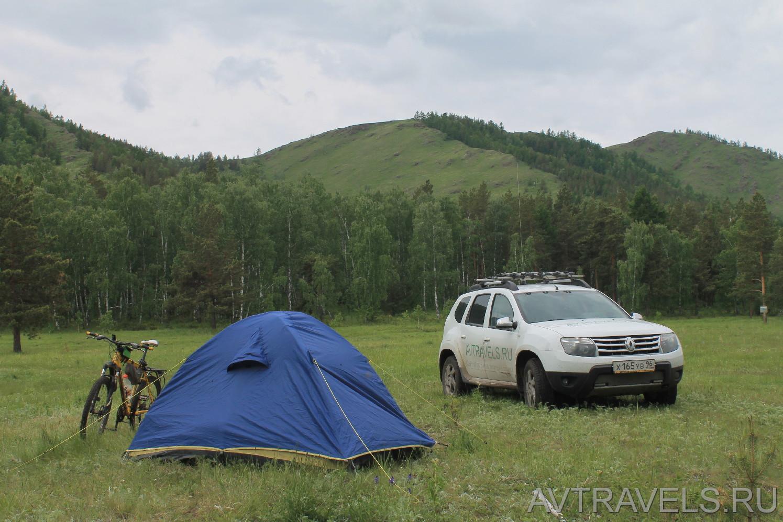 Дастер палатка велосипед