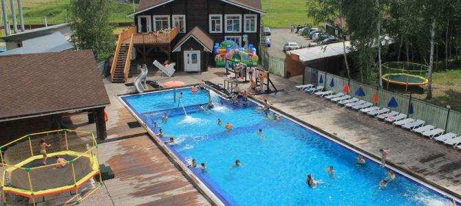 Летнее купание в горячем источнике Баден Баден Курган 3.07.2017