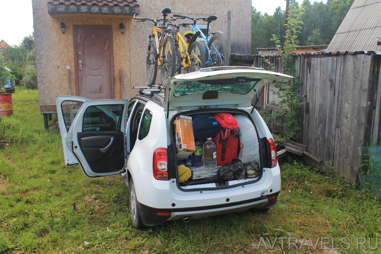 Дастер с полным багажником