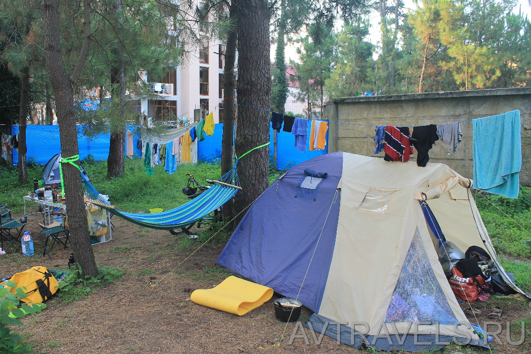 палаточный кемпинг в Грузии