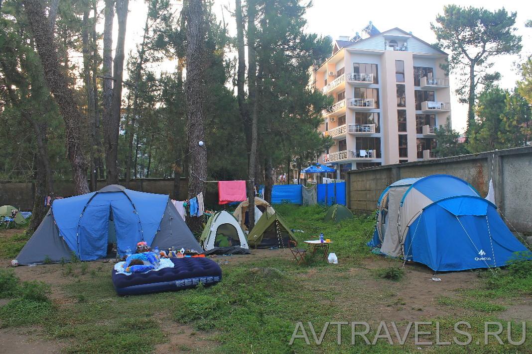 Geocamp палаточный лагерь Грузия