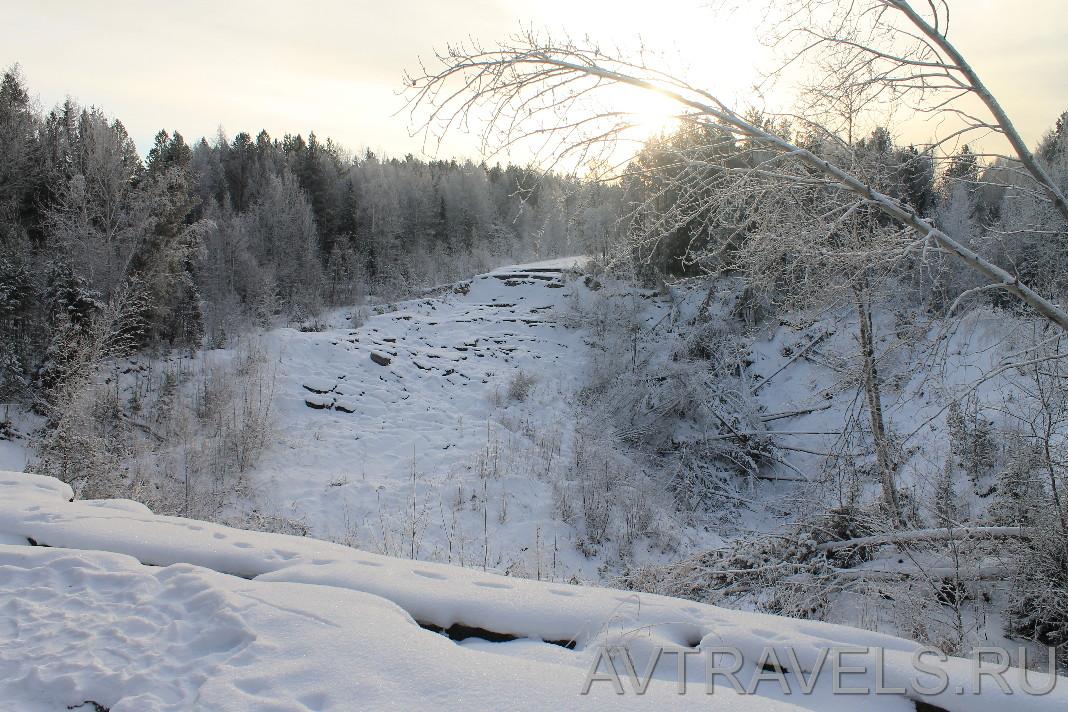 обвал дороги около Краснотурьинска
