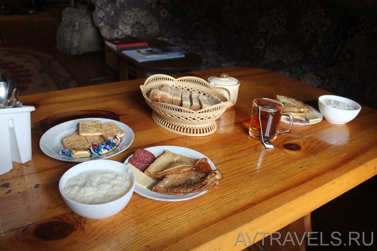 горный приют Иремель завтрак